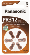 Hörgerätebatterien - Panasonic PR 312 Mercury free (6 Stück)