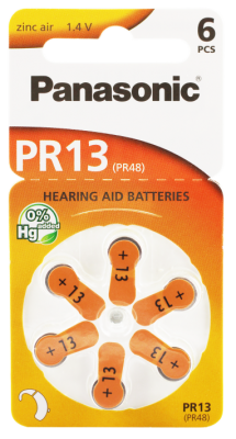 Hörgerätebatterien Sparpaket - Panasonic PR 13 Mercury free (30 Stück)