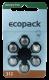 Hörgerätebatterien Sparpaket - Ecopack MF Typ 312 (60 Stück)