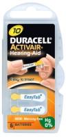 Hörgerätebatterien - Duracell ActivAir Typ 10 Mercury free (6 Stück)