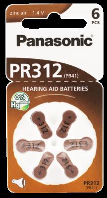 Hörgerätebatterien Sparpaket - Panasonic PR 312 Mercury free (60 Stück)