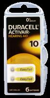 Hörgerätebatterien Sparpaket - Duracell ActivAir Typ 10 MF (60 Stück)