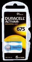 Hörgerätebatterien - Duracell ActivAir Typ 675 Mercury free (6 Stück)