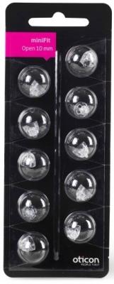 """Oticon """"miniFit"""" Schirmchen für externe Hörer (offen) Größe 10mm"""