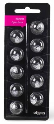 Oticon miniFit Schirmchen für externe Hörer (Domes, offen)