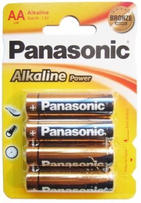Panasonic Alkaline Power - Typ AA - 1,5V Batterie (4 Stck.)