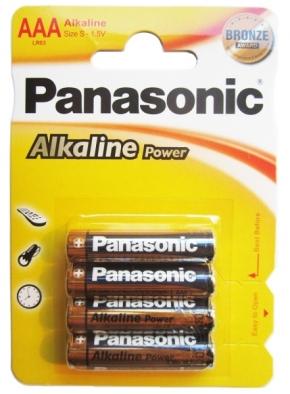 Panasonic Alkaline Power - Typ AAA - 1,5V Batterie (4 Stck.)
