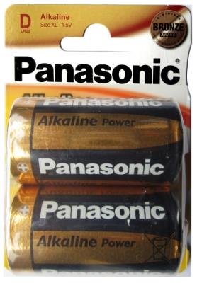 Panasonic Alkaline Power - Typ D - 1,5V Batterie (2 Stck.)