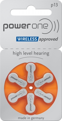Hörgerätebatterien - power one Mercury-Free p13 (6 Stück)