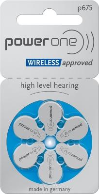 Hörgerätebatterien - power one Mercury-Free p675 (6 Stück)