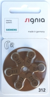 Hörgerätebatterien Sparpaket - Siemens Typ 312 Mercury-Free (60 Stück)