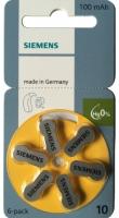 Hörgerätebatterien - Siemens Mercury-Free Typ 10 (6 Stück)