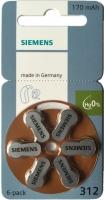 Hörgerätebatterien Sparpaket - Siemens Mercury-Free Typ 312 (60 Stück)