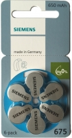 Hörgerätebatterien - Siemens Mercury-Free Typ 675 (6 Stück)
