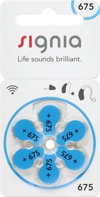 Hörgerätebatterien Sparpaket - Signia (ehem. Siemens) Typ 675 (30 Stück)