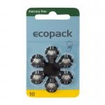 Hörgerätebatterien - Ecopack Mercury-Free Typ 10 (6 Stück)