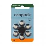 Hörgerätebatterien - Ecopack Mercury-Free Typ 13 (6 Stück)