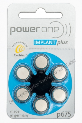 Hörgerätebatterien Sparpaket - Powerone Cochlear Implant Plus p675 (60 Stück)