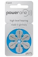 Hörgerätebatterien Sparpaket - power one Typ p675 (60 Stück)