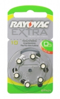 Hörgerätebatterien Sparpaket - Rayovac Extra Mercury Free Typ 10 (60 Stück)