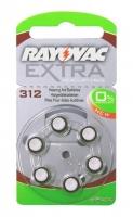 Hörgerätebatterien Sparpaket - Rayovac Extra Mercury Free Typ 312 (60 Stück)