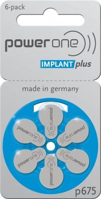 Hörgerätebatterien Sparpaket - Power one Cochlear Implant Plus p675 (60 Stück)